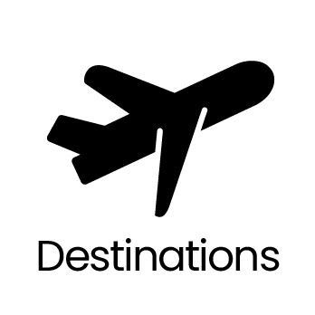 bouton menu Destinations